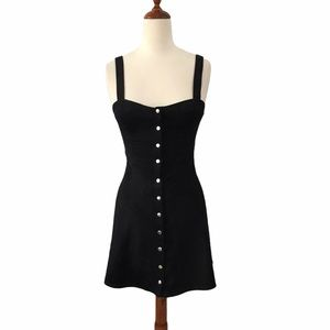 Forever 21 Snap Button Front Fit & Flare Dress